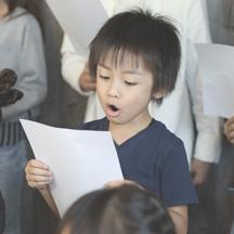 【全員での合唱練習】