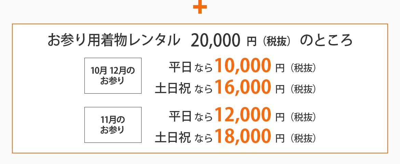 お出かけレンタル料金