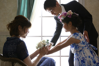 横浜みなとみらい / BlueClair / 家族写真