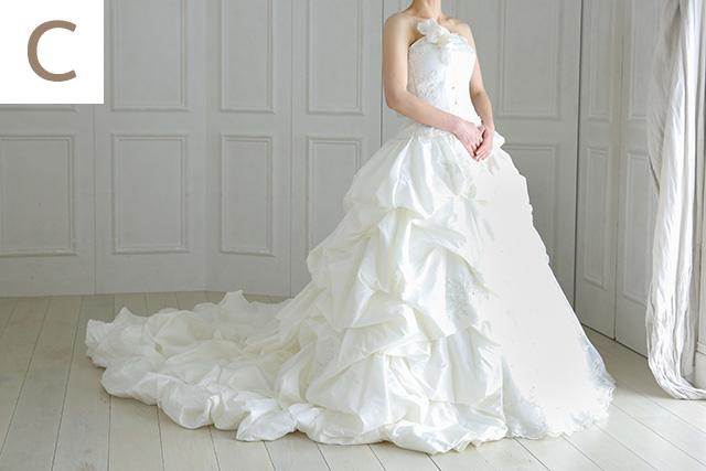 ウェディングドレス C